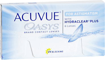 Acuvue Oasys for astigmatism 2 weekly contact lenses
