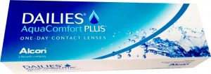 Dailies Aquacomfort plus one day contact lenses from alcon